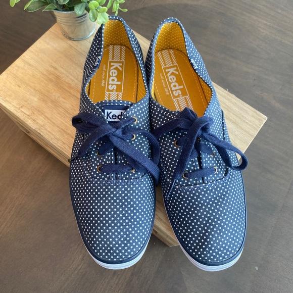 Keds polka dot navy sneakers